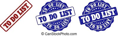 TO DO LIST Scratched Stamp Seals