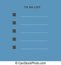 To do list template vector illustration. Blue gray colors isolated checklist background. To do vector.