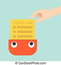 To do list, vector