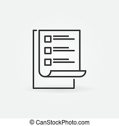 To Do List vector modern simple icon. Checklist symbol