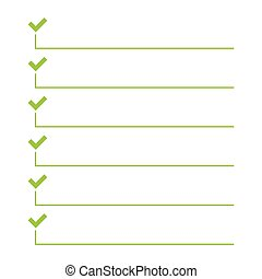 To do list. Vector - To do list. Lines with check boxes. ...