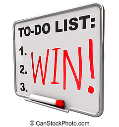 To-Do List - Win - Dry Erase Board - A white dry erase board...