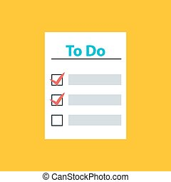 To Do List with Check Marks