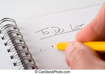 To-Do List - Writing a to-do list