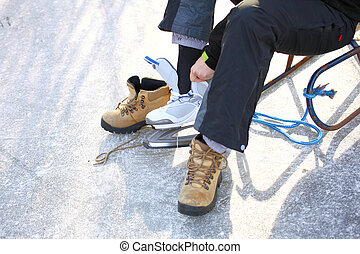 to dress skate ice skating outdoors winter