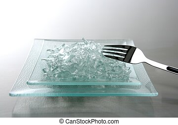 To eat today we have broken glass