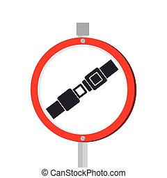 To fasten seat belt sign
