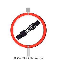 To fasten seat belt sign
