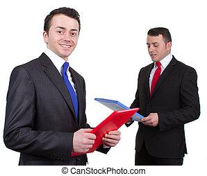 to, forretningsmænd