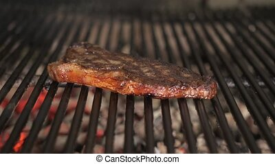 To fry steak on bbq. Typical Argentinian barbecue or asado....