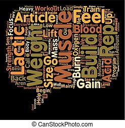 To Gain Muscle Weight Go For The Burn text background wordcloud concept
