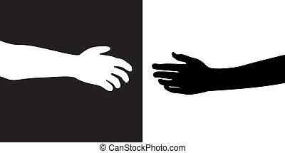 to hænder
