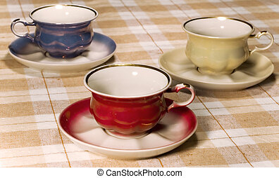 cup of tea - to lay the table - cup of tea