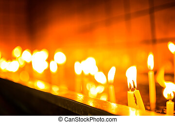 To light a candle - wish to keep the candle burning