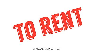 To Rent rubber stamp