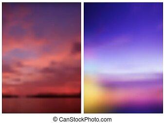 to, slør, himle, baggrund