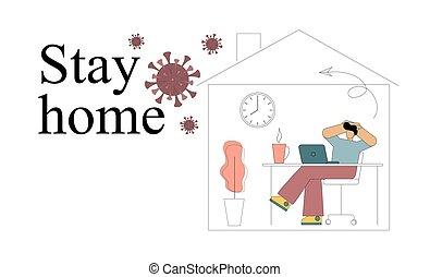 To stay home. Quarantine