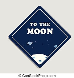 To The Moon Space Background Vector Image