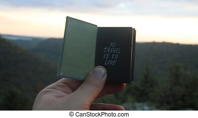 To travel is to live. Book with the inscription