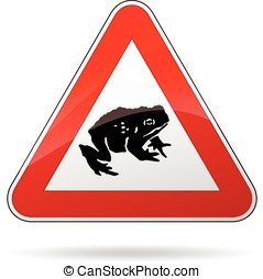 toads warning sign