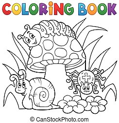 toadstool, coloration, animaux, livre