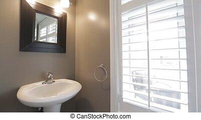 toalet, moderne, salle bains, intérieur