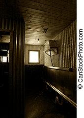 toaleta, hotel, dávný