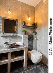 toaleta, nowoczesny, luksus, miejsce zamieszkania