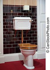 toaleta, staromódní, móda
