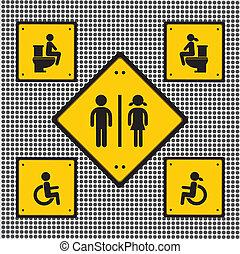toaleta, znak