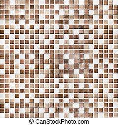 toalett, brun, vägg, tegeltäckt, bakgrund, tegelpanna,...