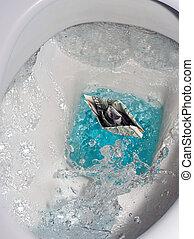 toalett, droppe, droppa, vatten, plaska, bubbla