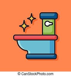 toalett, säte, ikon
