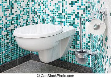 toalett, säte, och, papper