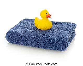 toalla, patos de goma