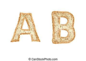 Toast alphabet on AB