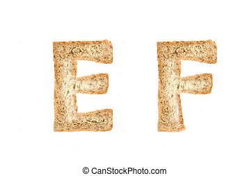 Toast alphabet on EF