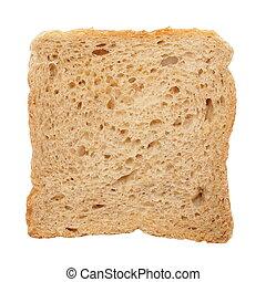 toast, blanc, isolé, fond