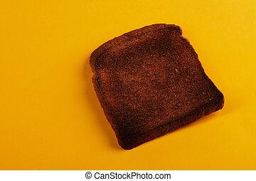 toast, brûlé, pain