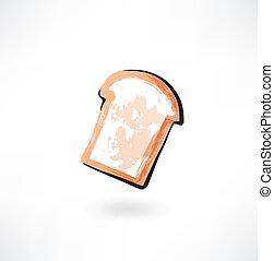toast bread grunge icon
