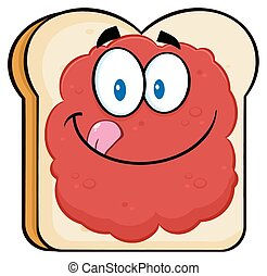 Toast Bread Slice With Jam