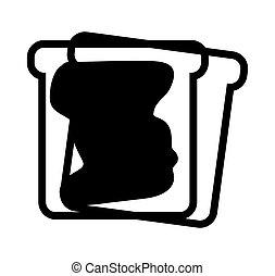 toast bread with jam