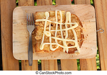 Toast bread with mayonnaise