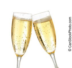 toast, célébration, champagne
