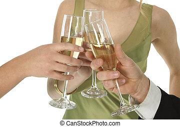 toast, champange