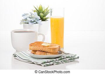 Toast Coffee and Juice