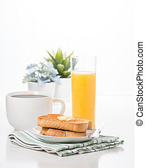 Toast Coffee and Juice Portrait