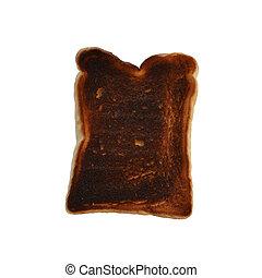 toast, couper, brûlé