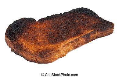 toast, couper, brûlé, pain