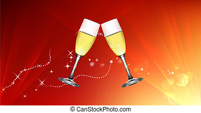 Toast for celebration and event